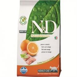 Farmina N&D Grain Free Feline Adult Pesce e Arancia