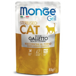 Monge Grill Sterilised Cat Galletto 85gr