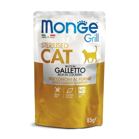 Monge Grill Sterilised Cat Galletto 85gr
