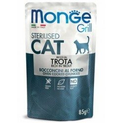 Monge Grill Sterilised Cat Trota 85gr