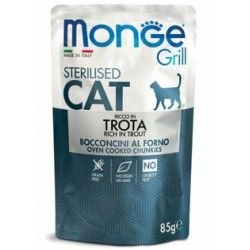 Monge Grill Sterilised Cat Trota 85gr