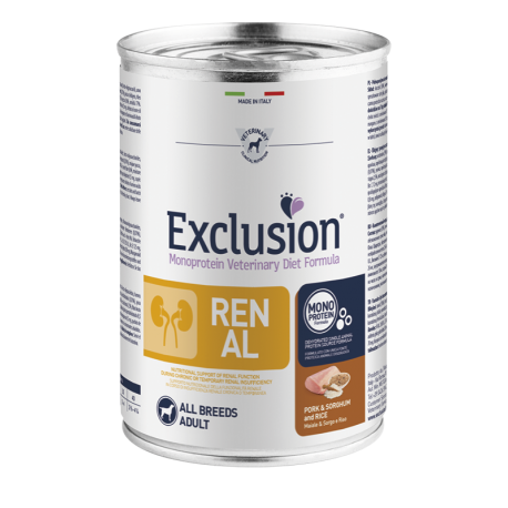Exclusion Renal Pork&Sorghum And Rice All Breeds 400g