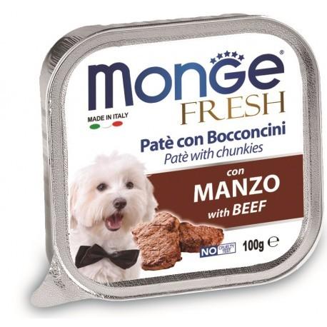 Monge Fresh Patè con Bocconcini Manzo 100gr