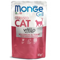 Monge Grill Sterilised Cat Vitello 85gr