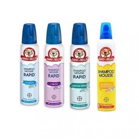 Bayer Shampoo a secco in mousse per cani