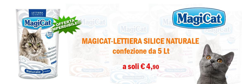 Magicat-Lettiera silice naturale 5 Lt